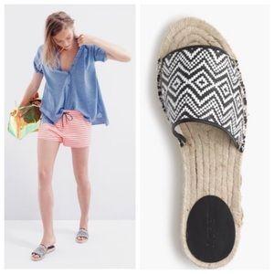 J.Crew Valencia Raffia Espadrille Slides / Sandals